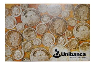 Coleccion Numismática Monedas De Plata Venezolanas Unibanca