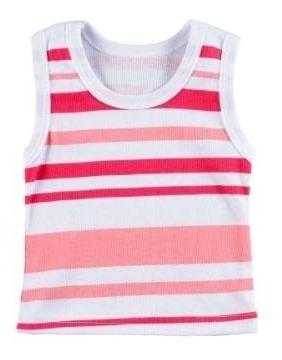 Blusa Regata Bebê Menina - Kit Com 2 Unidades