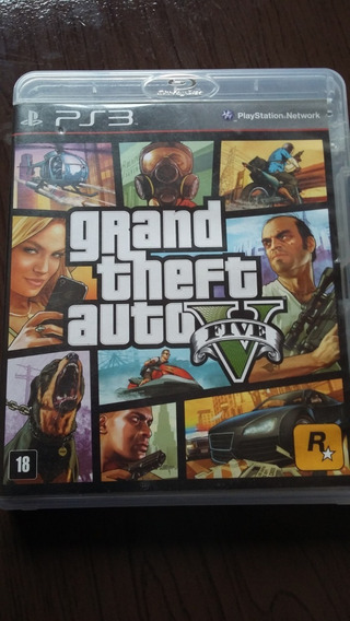 Jogo Grand Theft Auto V (gta5) P/ Ps3 -mídia Física Blu-ray