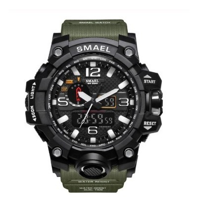 Relógio Smael Tático Militar Prova D´água S-shock Verde