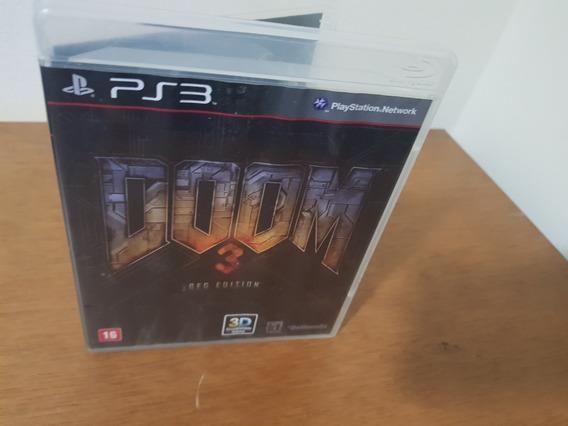 Doom3 Bfg Edition Usado Original Ps3 Midia Física