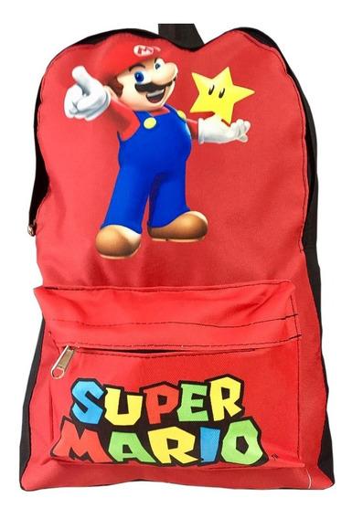 Mochila Super Mario Bross Retro Vintage Gamer Luigi