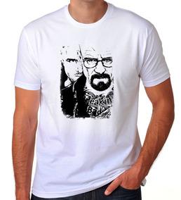 Camiseta Branca Breaking Bad Heisenberg White Série Tv 02