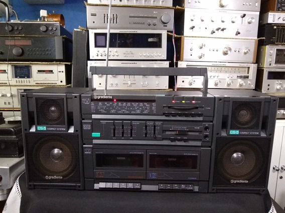 Radio Gravador Gradiente Cs-5 Bombox N Polyvox Sharp Philips
