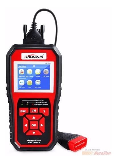 Scanner Auto Diagnostico Obd 2 Kw850 Veiculo Ultrassônico