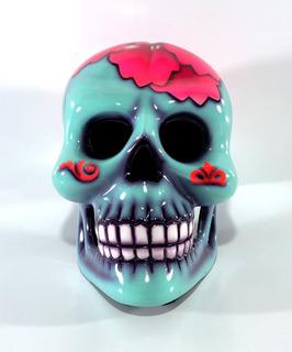 Casco Cráneo Mexicano Vestuario Adulto Flor