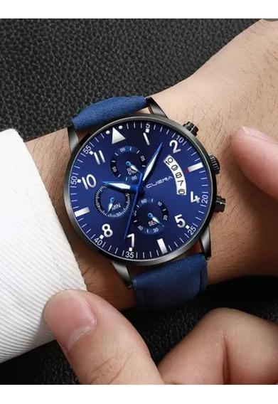 Relógio Masculino Cuena Azul