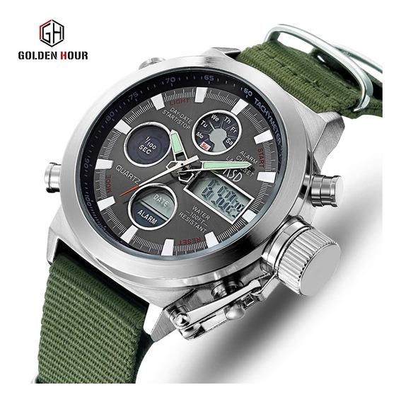 Relógio Esportivo Militar Golden Hour Promoção