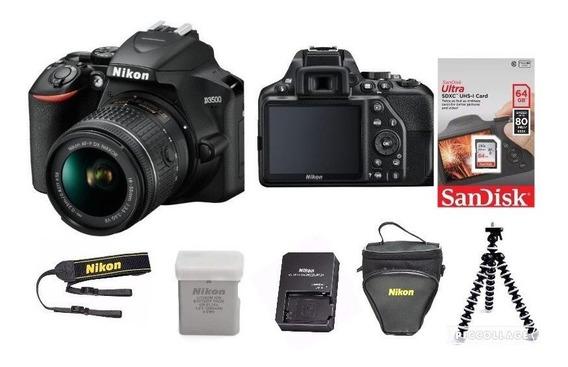 Câmera Nikon D3500 Lente 18-55mm +64gb+bolsa+tripé C/nf
