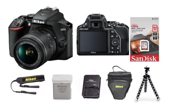 Câmera Nikon D3500 Lente 18-55mm +64gb+bolsa+trerip