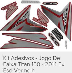 Kit Adesivo Titan 2014 Vermelha