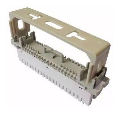 Imagem 1 de 8 de Bloco M10 Corte Engate Rápido Com Bastidor Modular Plástico