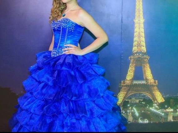 Vestido De 15 Azul Francia, Desmontable
