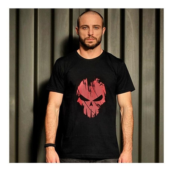 Camiseta Bravo Estampada Spectral Estampa Vermelha