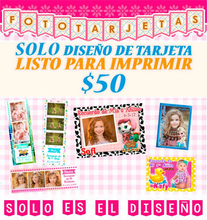 Diseño Foto Imanes Tarjetas Souvenir Cumpleaños