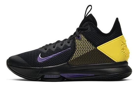 Tenis Nike Lebron Witness 4 Negro Morado (bv7427-004) Rsn