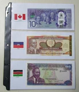 370 Banderas Del Mundo Para Organizar Colección P/ Billetes