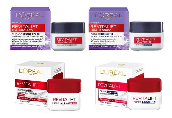 Revitalift Loréal Paris - Diurno E Noturno Kit C/4 Itens