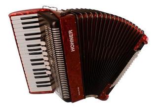 Ftm Acordeon A Piano Hohner Bravo Iii 96 Bajos Rojo