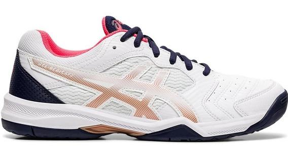 Zapatillas Asics Tenis Mujer Gel Dedicate 6 Bco-rosa-az Cli