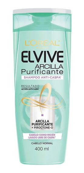 Shampoo Anti-caspa Arcilla Purificante Loreal Elvive 400ml