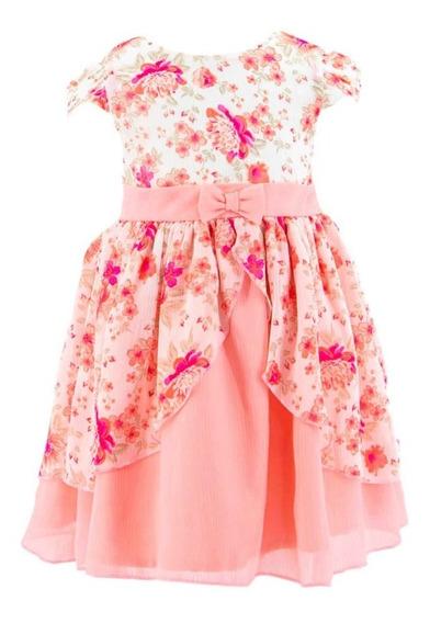 Vestido/batita Para Bebe Niña Incluye Cubre Pañal 04644