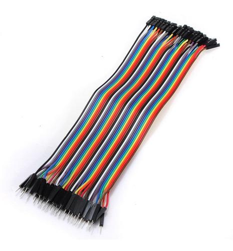 Imagen 1 de 3 de 40 Cables Dupont Macho Hembra 20cm Protoboard -pdiy-