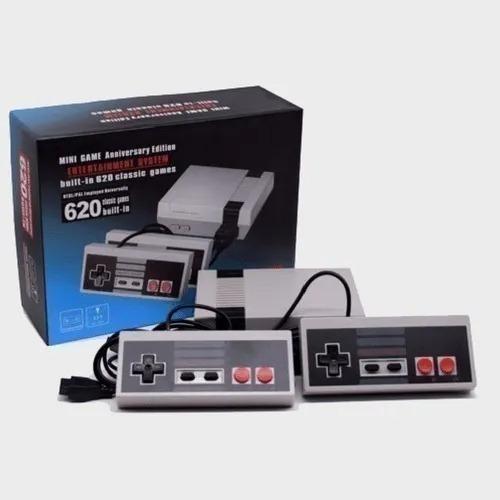 Mini Vídeo Game Retrô Com 620 Jogos 8 Bits 2 Controles Gc05