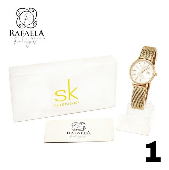 Kit 3 Relógios Feminino Luxo Original C/ Garantia Nf-e