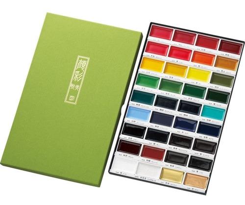 Acuarelas Kuretake Gansai Tambi 36 Colores