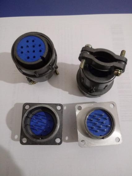 Conector Circular 12 Pinos - 2 Conjuntos