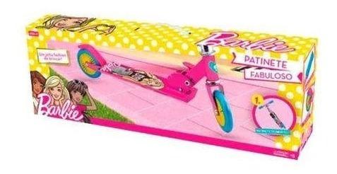 Patinete Menina 2 Rodas Rosa Barbie Original Infantil