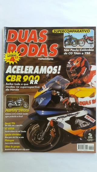 Revista Duas Rodas N°299 Ago/2000 Cbr900rr