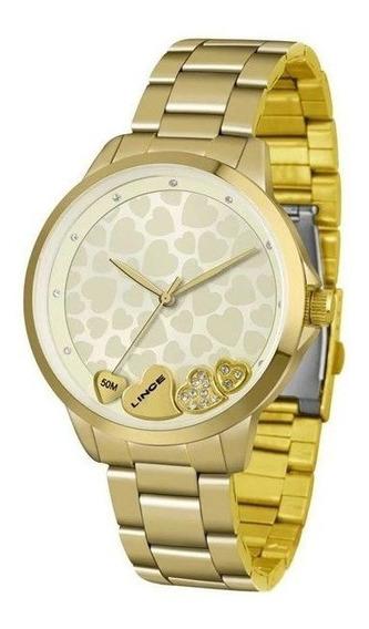 Relógio Lince Feminino Dourado Lrg4571l C1kx