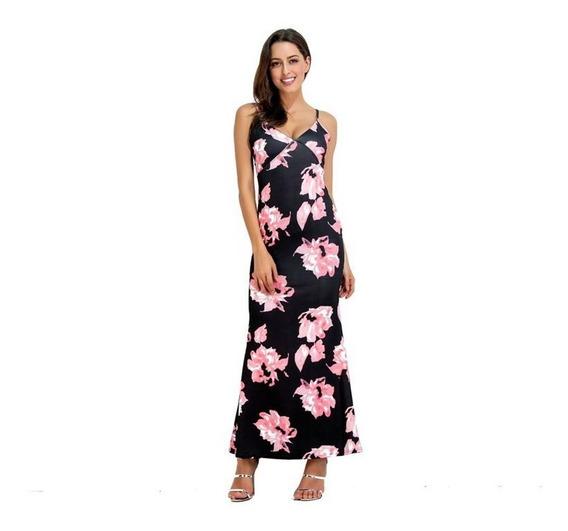 Vestido Longo Feminino Estampado Festa Moda 2020