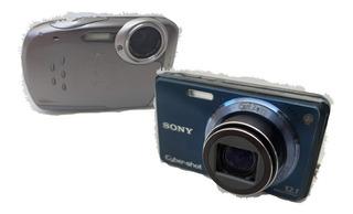 Combo Cámaras Sony Cybershot Dsc-w290 +fujifilm Finepix Xp10