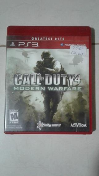 Call Of Duty 4 Modern Warfare Ps3 Mídia Física