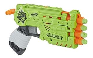 Pistola Nerf Zombie Strike 4 Dardos Quadrot Hasbro