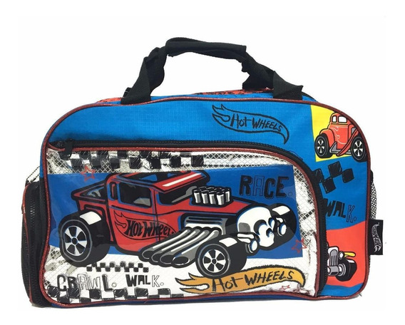 Bolso Hot Wheels Grande 27655 Con Licencia Mattel Original