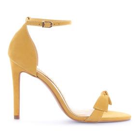 Sandália Jacy Nobuck Amarelo