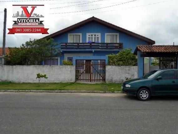 Sobrado Com 8 Dormitórios À Venda, 340 M² Por R$ 590.000 - Balneário De Praia - Matinhos/pr - So0242