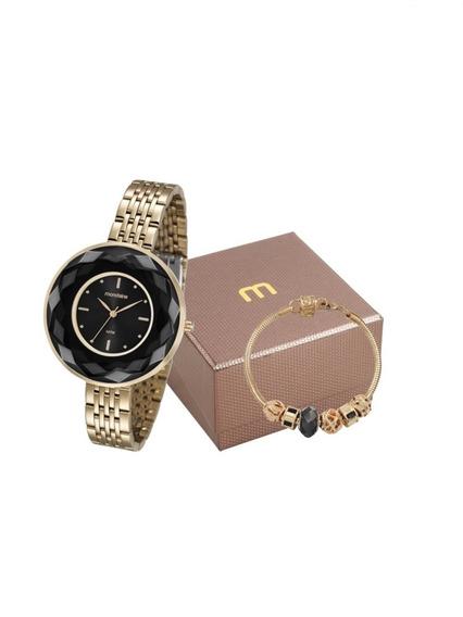 Relógio Mondaine Feminino Kit 99054lpmvde6