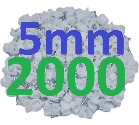 Miguelão Fixa Cabo 5mm Branco Acabamento Parede Com 2000