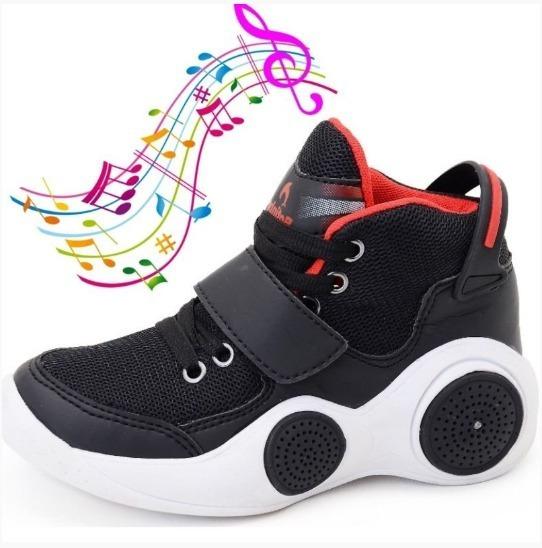 Tenis Toca Musica Por Bluetooth Botinho Infantil Promoção