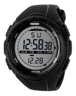Reloj Hombre Skmei 1025 Crono Alarma Luz Sumergible Gtia