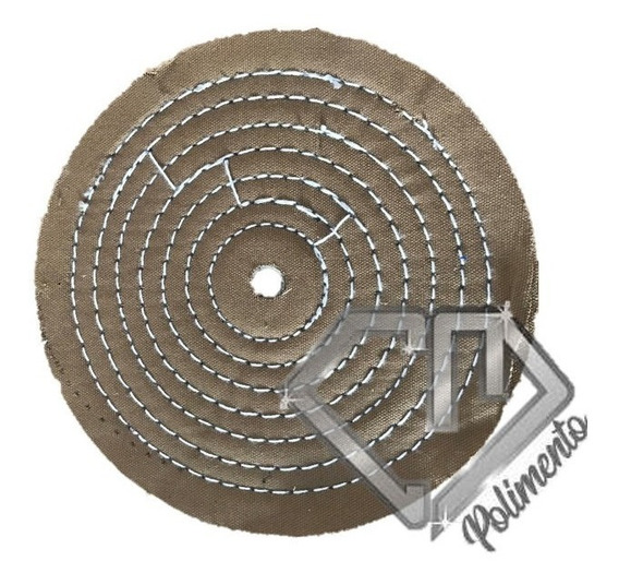 Roda Lona - Polimento Abrasivo Ferro Aço 250mm Cm Polimento