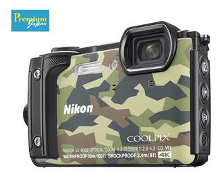 Cámara Compacta Nikon Coolpix W300, 4k Ultra Hd, Camuflaje