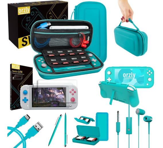 Estuche Funda Nintendo Switch Lite Mica Accesorios Completo