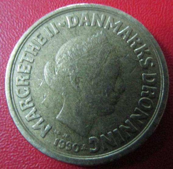 Dinamarca Moneda 20 Kroner 1990 Xf Margrethe I I