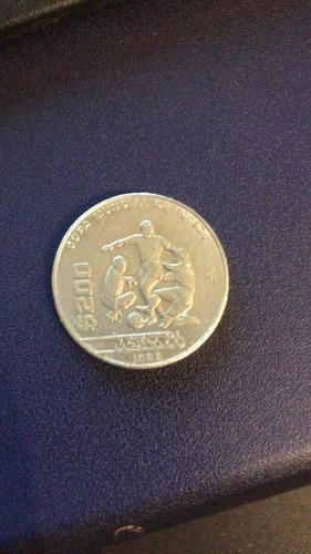 Moneda De 200$ Copa Mundial Del Futbol 1986